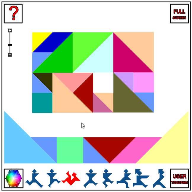 user tangram colourful mosaic